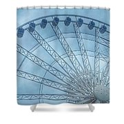The Liverpool Wheel In Blues 2 Shower Curtain