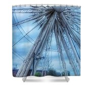 The Liverpool Wheel In Blues 3 Shower Curtain