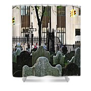 The Living And The Dead Shower Curtain