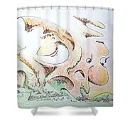 The Living Planet Shower Curtain