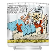 The Lobster Bed. Shower Curtain