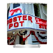 The Lobster Pot #1 Shower Curtain