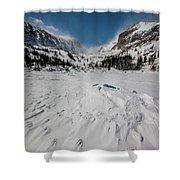 The Loch Under Snow Shower Curtain