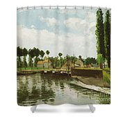 The Lock At Pontoise Shower Curtain