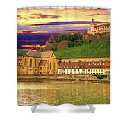 The Lock On The Hill Shower Curtain