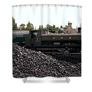The Locomotive Yard Shower Curtain