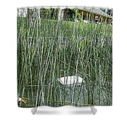 The Lodge At Blue Lakes Decaying Fish Shower Curtain