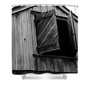 The Loft Door In Black And White Shower Curtain