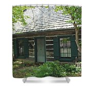 The Log Cabin Shower Curtain