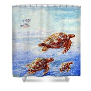 The Loggerheads Catch The Currents Shower Curtain