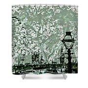 The London Eye And A Bridge Shower Curtain