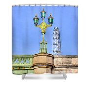 The London Eye And Westminster Bridge Shower Curtain