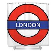 The London Underground Shower Curtain