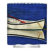 The Lone Boat Shower Curtain