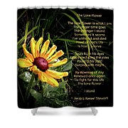 The Lone Flower Shower Curtain