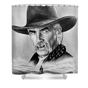 The Lone Rider Shower Curtain by Andrew Read