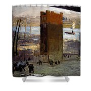 The Lone Tenement Shower Curtain