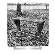 The Lonely Bench Shower Curtain