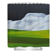 The Lonely Farm Shower Curtain