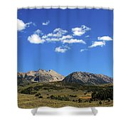 The Lonely Mountains Shower Curtain