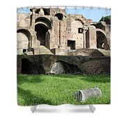The Lonely Pillar Shower Curtain