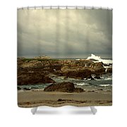 The Lonely Sea And Sky Shower Curtain