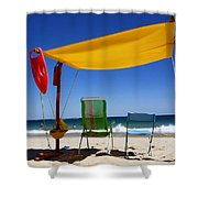 The Lonely Sea And The Sky Shower Curtain