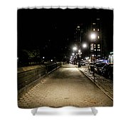The Lonely Street By Central Park Ny Shower Curtain