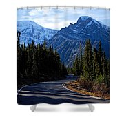 The Long And Winding Road Shower Curtain by Larry Ricker