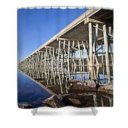 The Long Bridge Shower Curtain