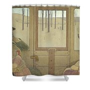 The Long Journey Shower Curtain