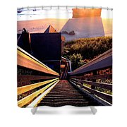The Long Long Stairway    Shower Curtain