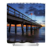 The Long Pier Shower Curtain