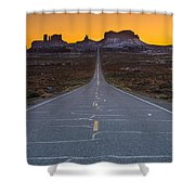 The Long Road To Monument Valley Shower Curtain
