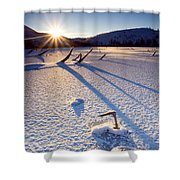 The Long Shadows Of Winter Shower Curtain