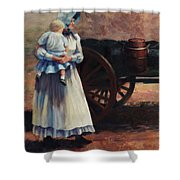 The Long Walk   Pioneers Traveling Westward Shower Curtain