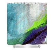 The Long Walk- Art By Linda Woods Shower Curtain
