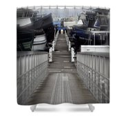 The Long Walk To Work Shower Curtain