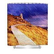 The Long Way Home Shower Curtain