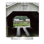 The Longley Covered Bridge Shower Curtain