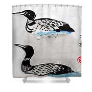 The Loons Shower Curtain