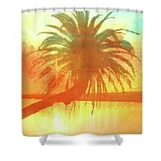 The Loop Palm Textured Shower Curtain