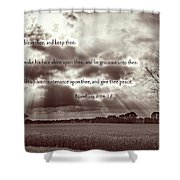 The Lords Blessing Shower Curtain