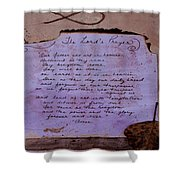 The Lord's Prayer Collage Shower Curtain