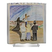 The Lost And Lonely Lamb Shower Curtain