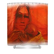 The Lost Child Shower Curtain