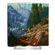 The Lost Cow 1852 Shower Curtain