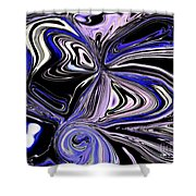 The Lost Statue Abstract Shower Curtain