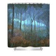 The Lost Trail Shower Curtain