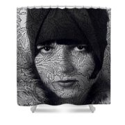 The Louise Brooks Tattoo Take 2 Shower Curtain